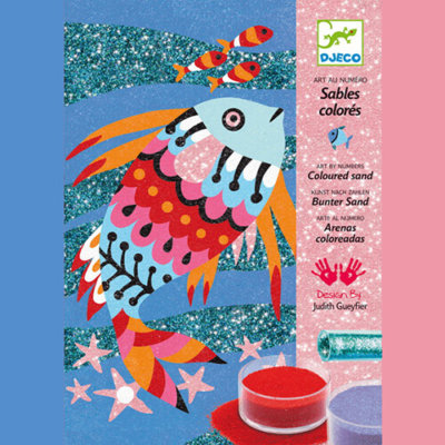 Djeco Kreatív - Homokkép készítő - Szivárványos halak készlet