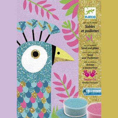 Djeco Kreatív - Homokkép készítő - Káprázatos madarak készlet