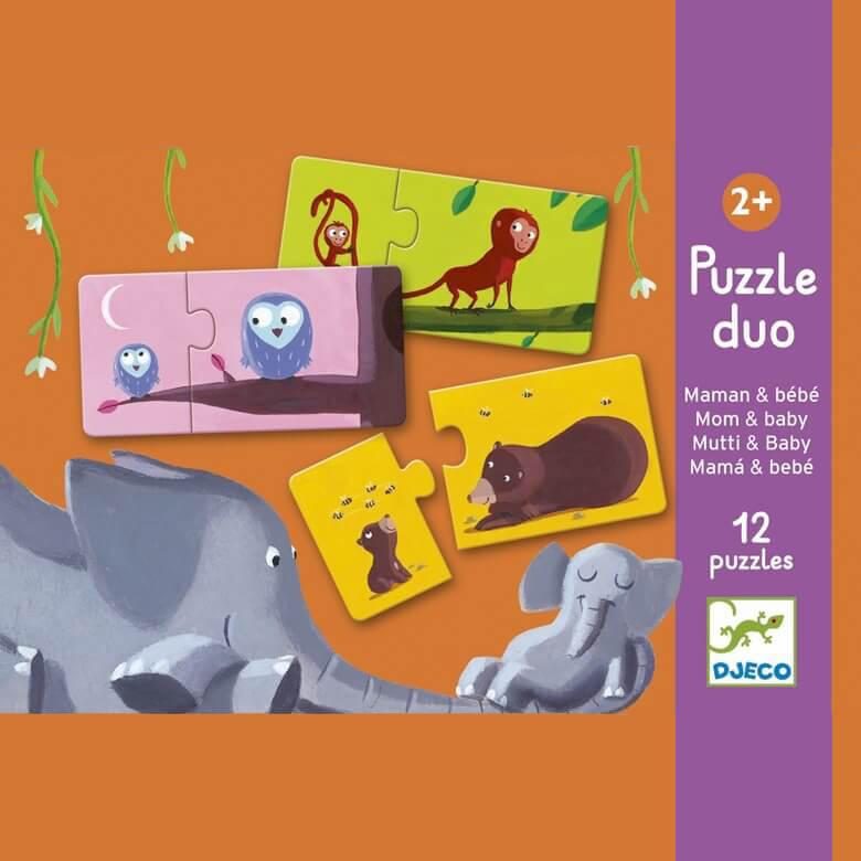 Párosító puzzle - Mama-baba