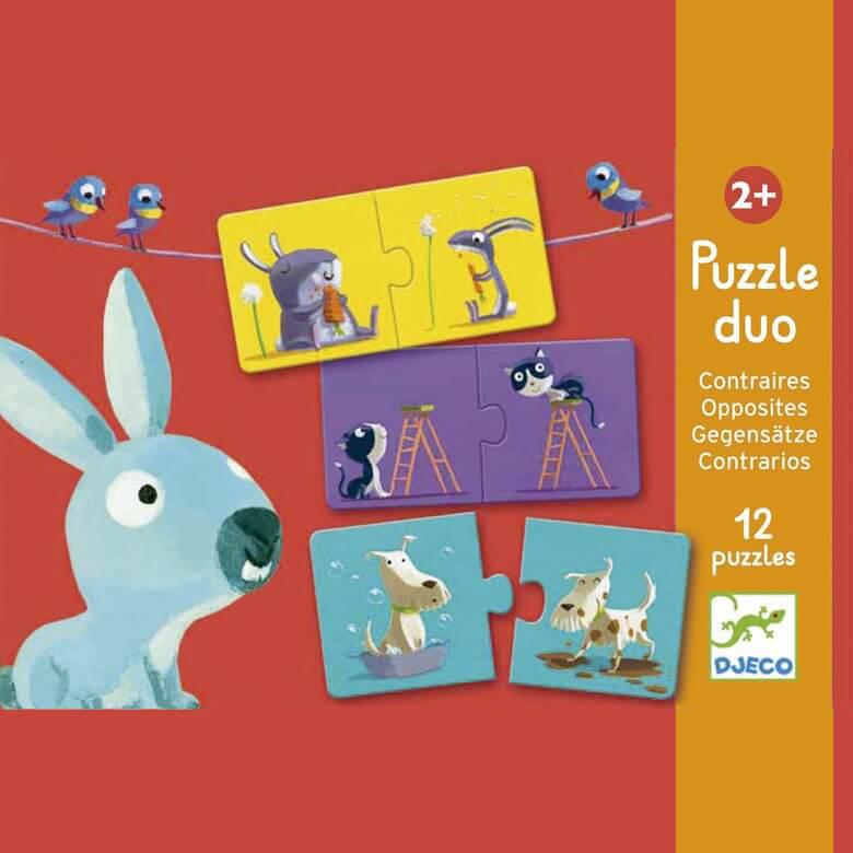 Párosító puzzle - Ellentétek
