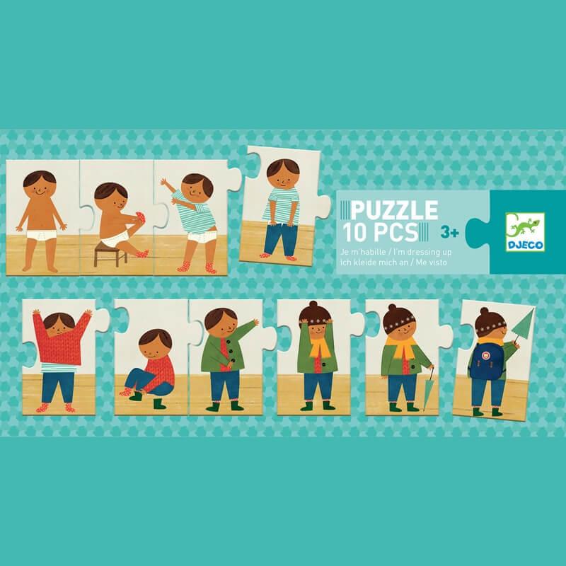 Párosító puzzle - Felöltöztem