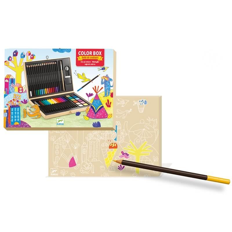 Kis színes ceruza készlet dobozban