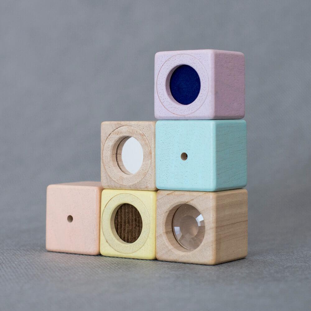 Fejlesztő kocka készlet - pasztell