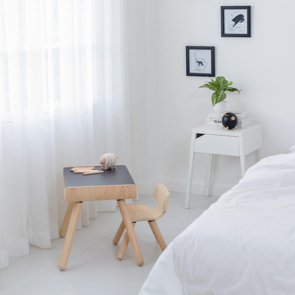 Asztal és szék - fekete