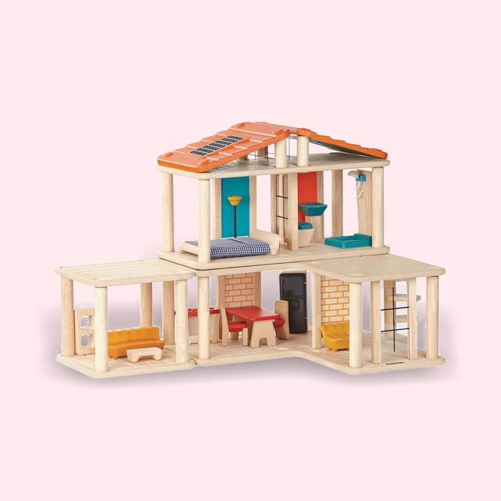 Kreatív építő kockákjátszó ház