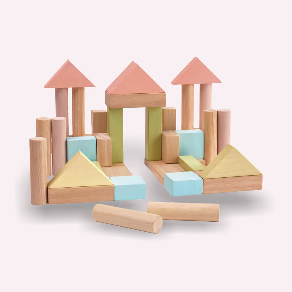 40 építőkocka - pasztell