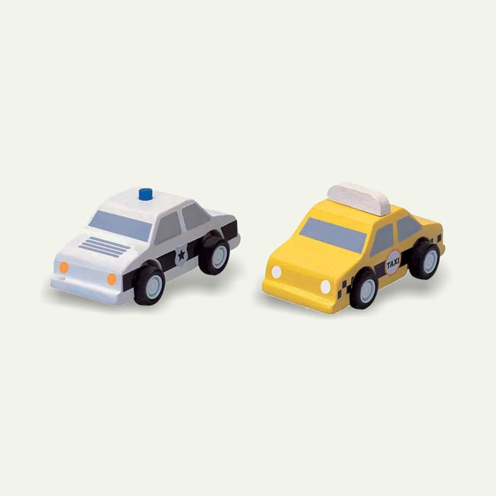 Taxi és rendőautó