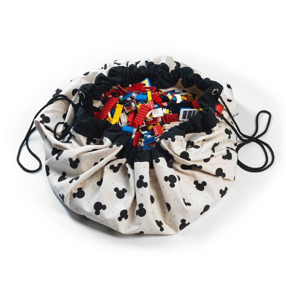 Játék tároló zsák - Fekete Mickey