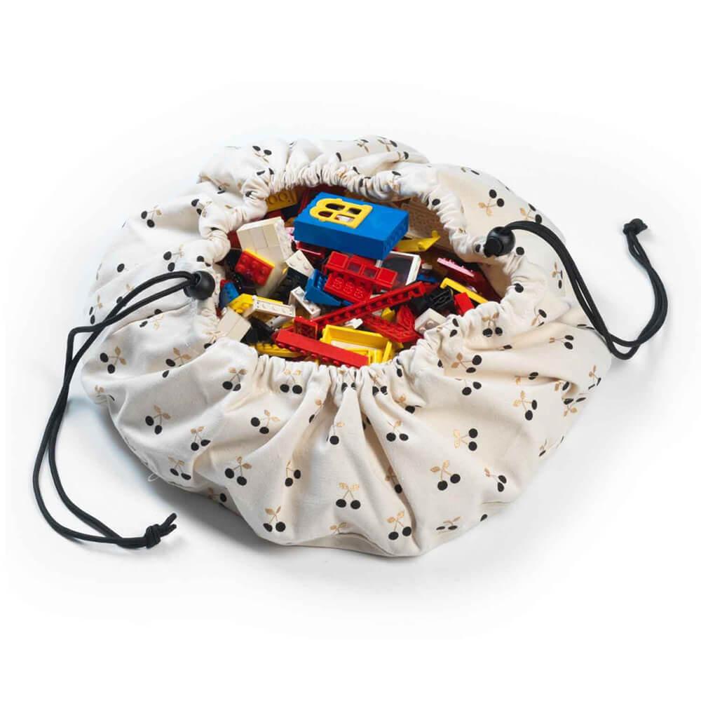 Játék tároló zsák mini - Cseresznye