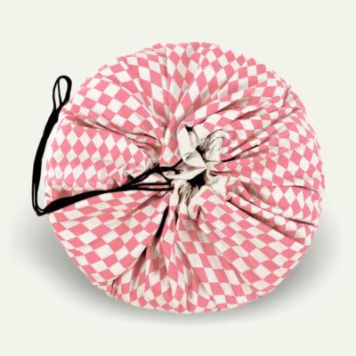 Játéktároló zsák - rombusz rózsaszín