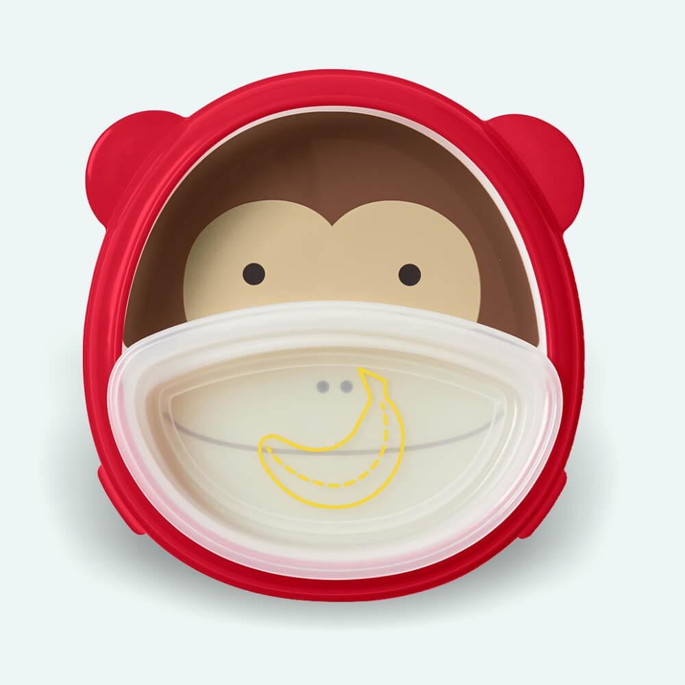 Csúszásgátlós tányér - majom