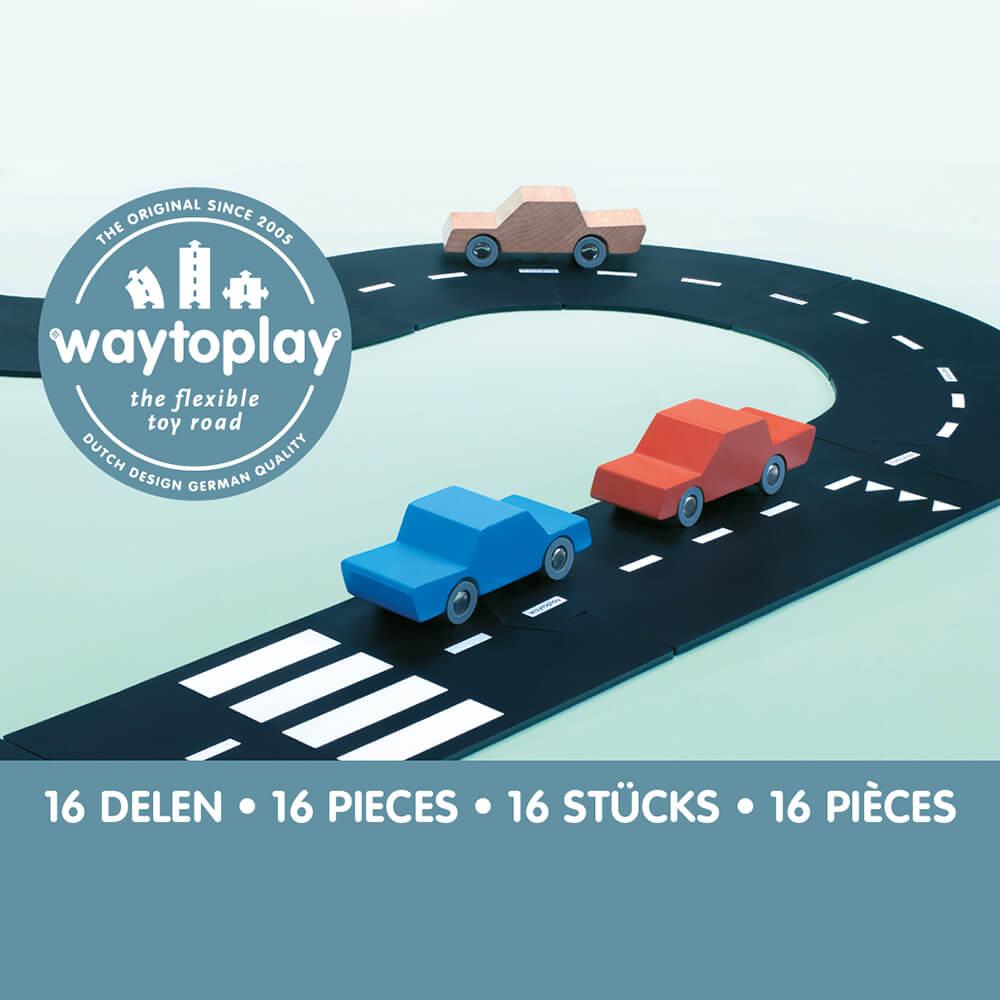 Waytoplay Rugalmas autópálya matchbox és más kis autóhoz - 16 db-os