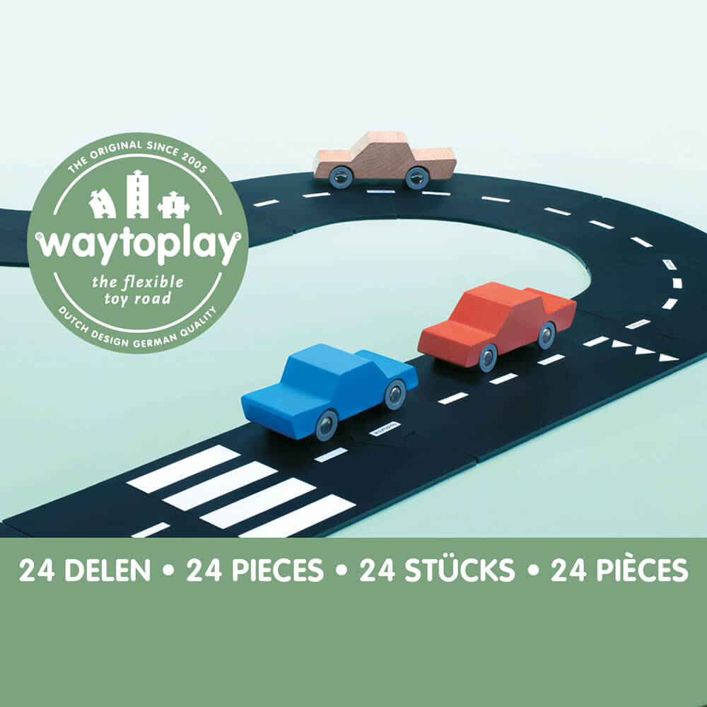 Waytoplay Rugalmas autópálya matchbox és más kis autóhoz - 24 db-os