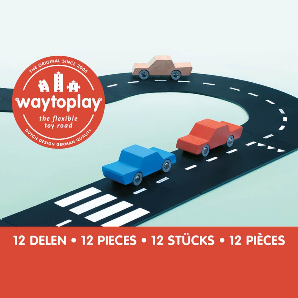 Waytoplay Rugalmas autópálya matchbox és más kis autóhoz - 12 db-os