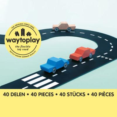 Waytoplay Rugalmas autópálya matchbox és más kis autóhoz - 40 db-os