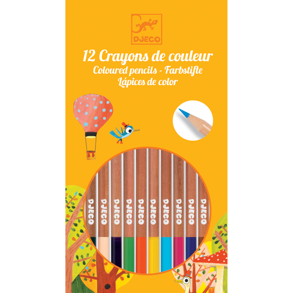 12 darabos színes ceruza készlet