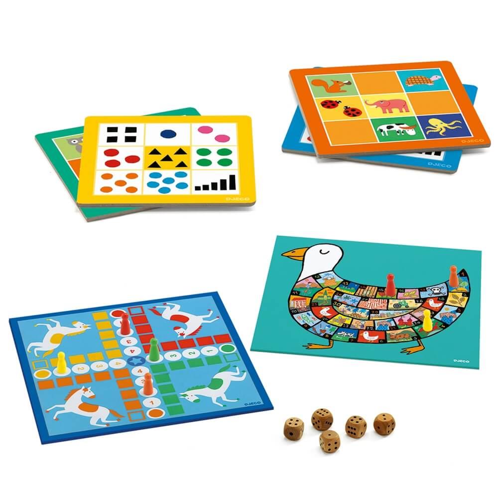 Társasjáték - Klasszikus készlet - 12 játék