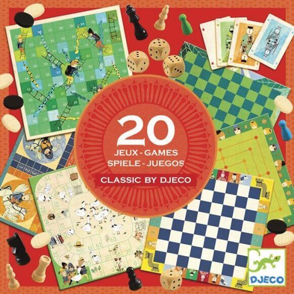 Társasjáték - Classic box - 20 játék