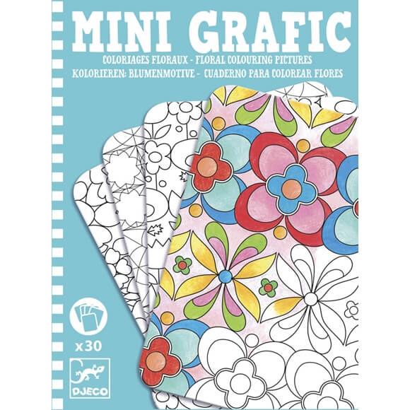 Mini Grafic - Színes virág színező