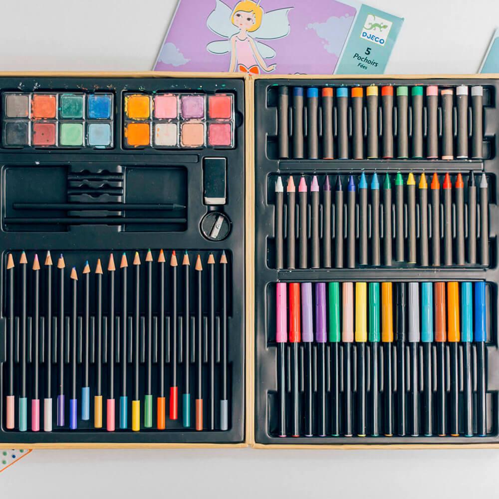 Nagy színes ceruza készlet dobozban