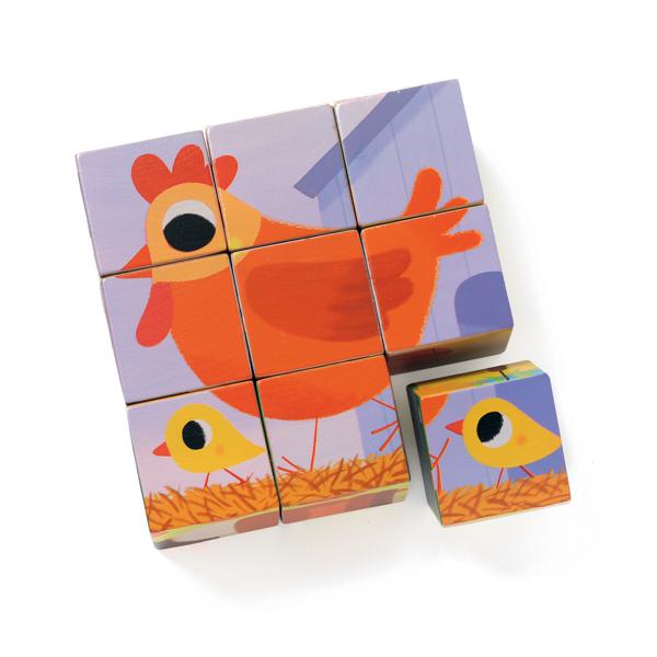 Forgatható kocka kirakó - Házi állatok