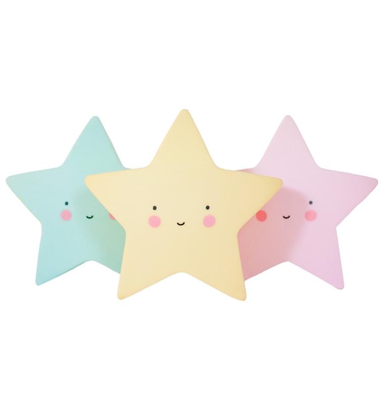Éjjeli fény - Csillag - rózsaszín