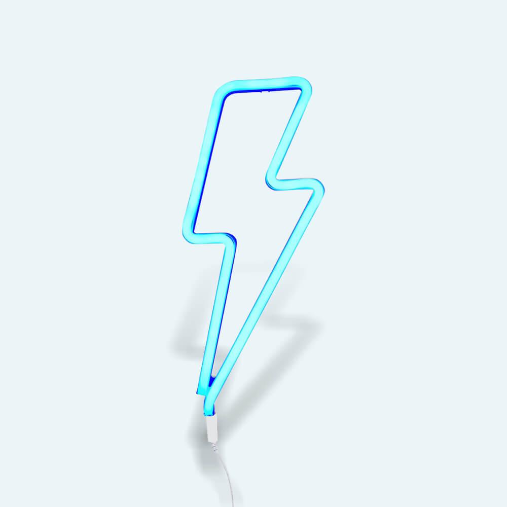 Neon lámpa - Villám - kék