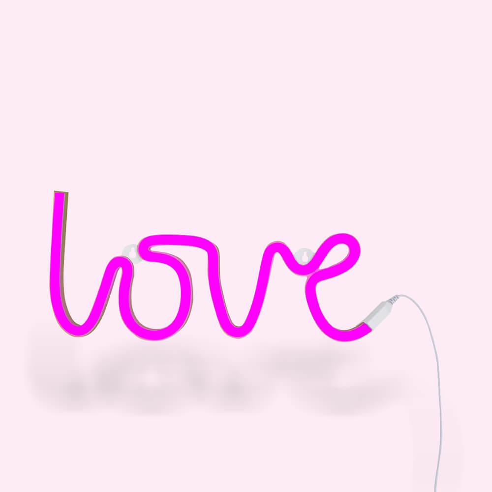 Neon lámpa - Love - rózsaszín