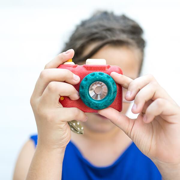 PlanToys Első fényképezőgépem - öko fa játékfényképező