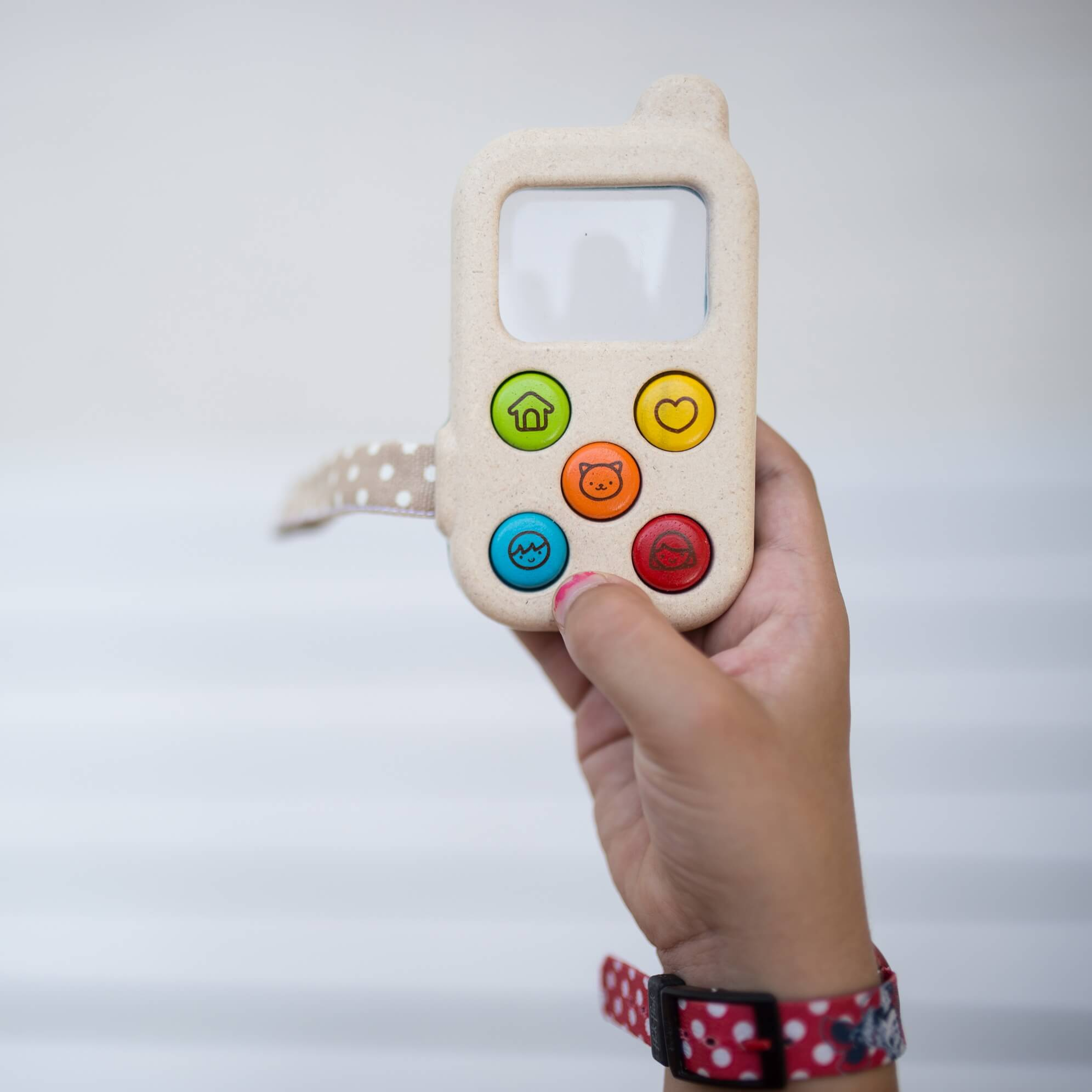 PlanToys Az első telefonom - öko fa játéktelefon