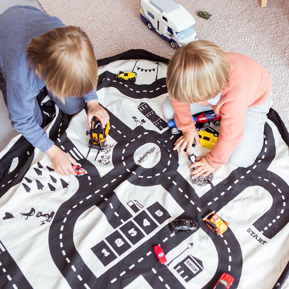 Játéktároló zsák - autópálya