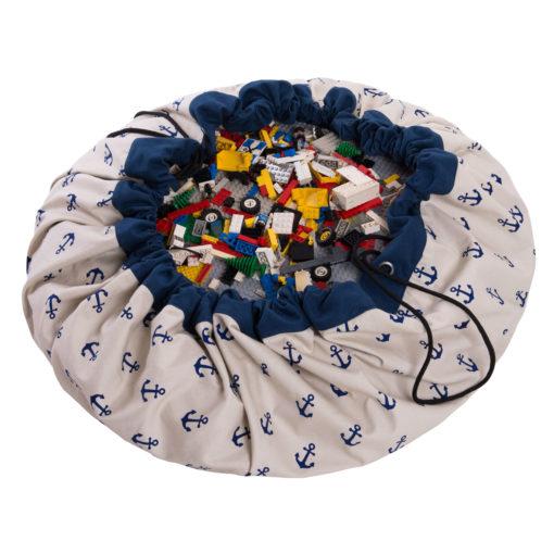 Játéktároló zsák - vasmacska kék