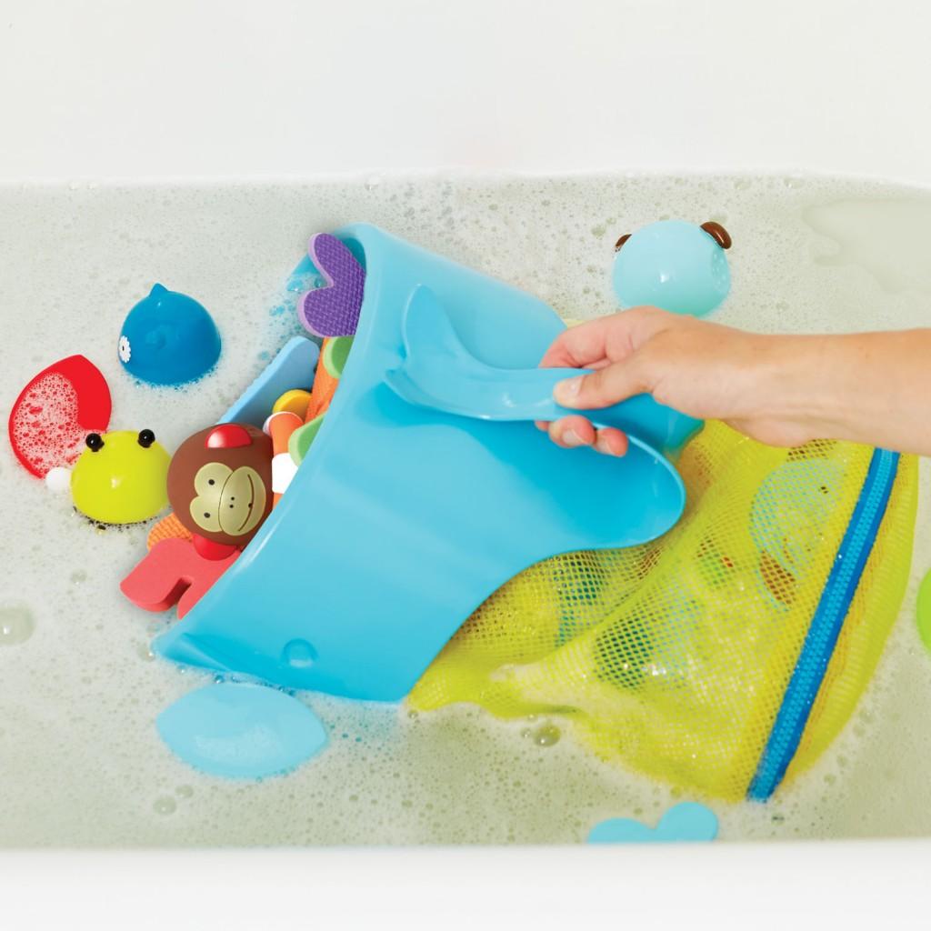 Fürdőjáték kifogó és tároló - bálna