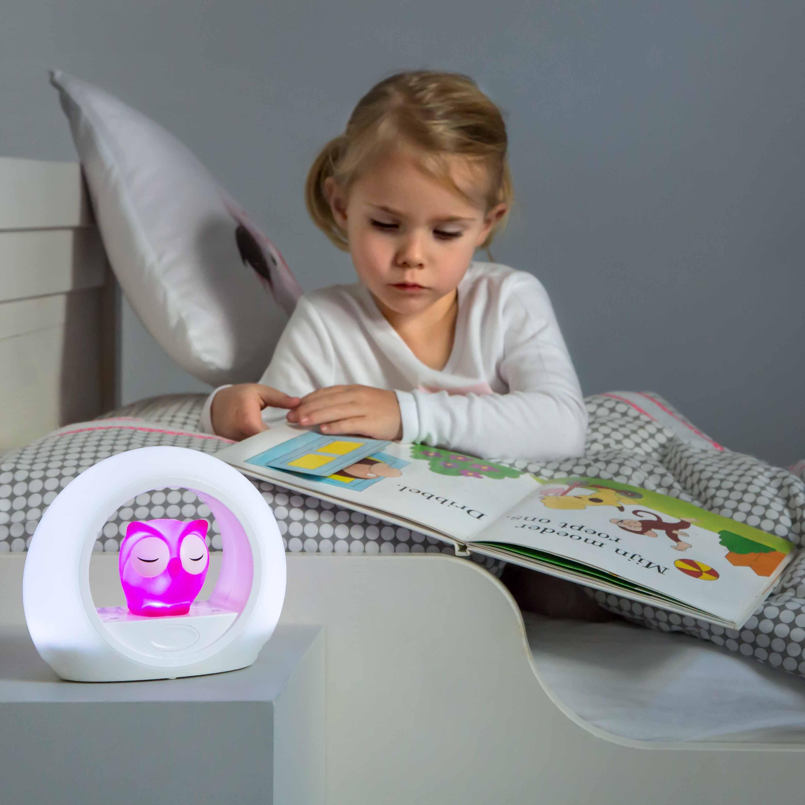 Éjjeli hangérzékelős lámpa - Lou - rózsaszín