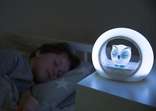 Éjjeli hangérzékelős lámpa - Lou - szürke