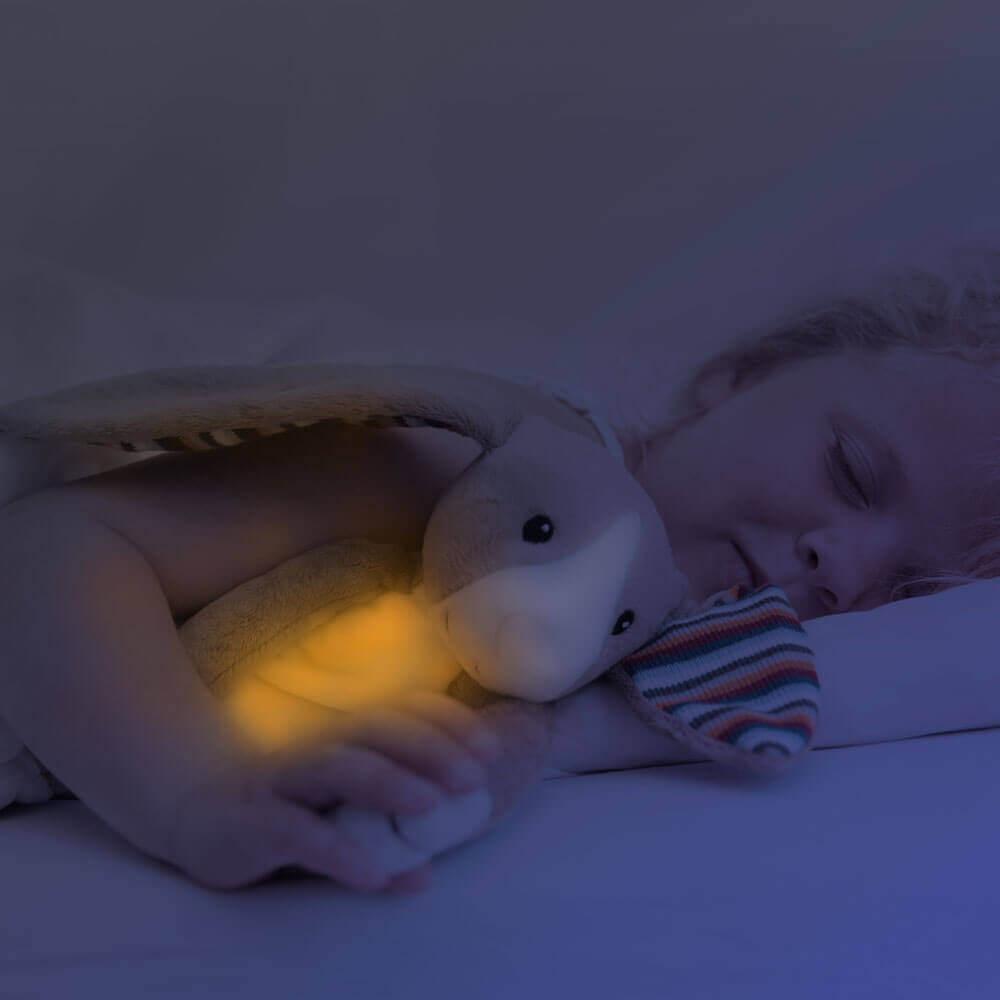 Zenélő plüss és éjjeli fény - Bo - nyuszi