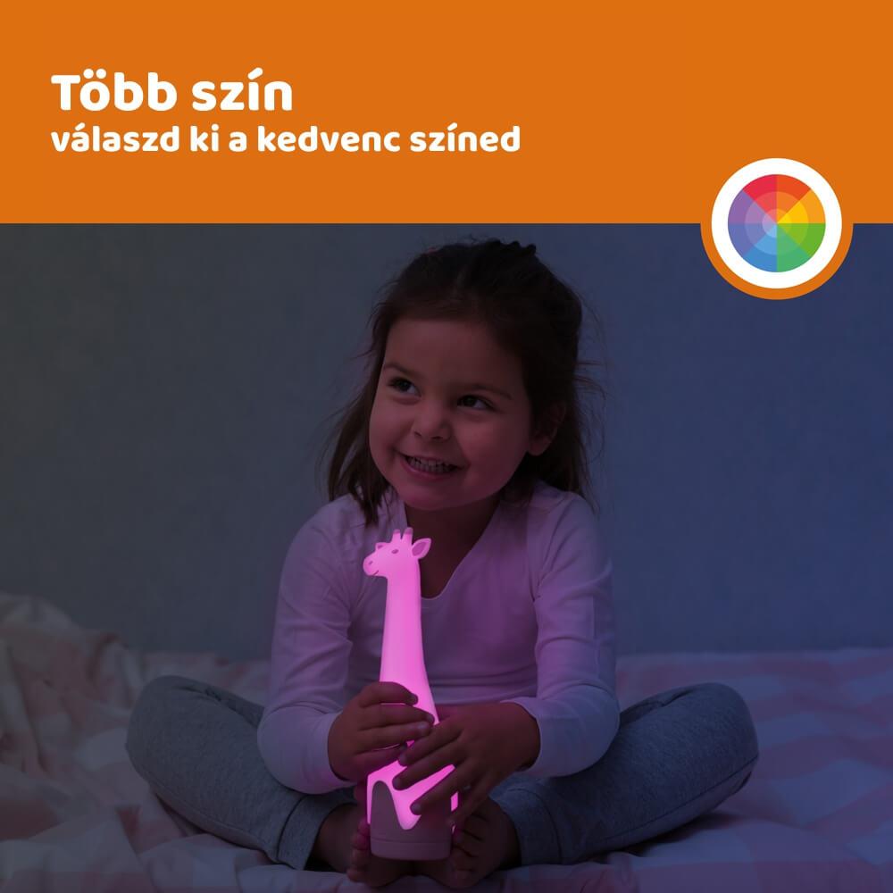 Elemlámpa és éjszakai fény - Gina - rózsaszín