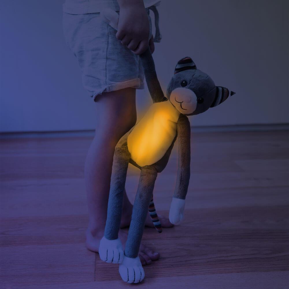 Zenélő plüss és éjjeli fény - Katie - cica