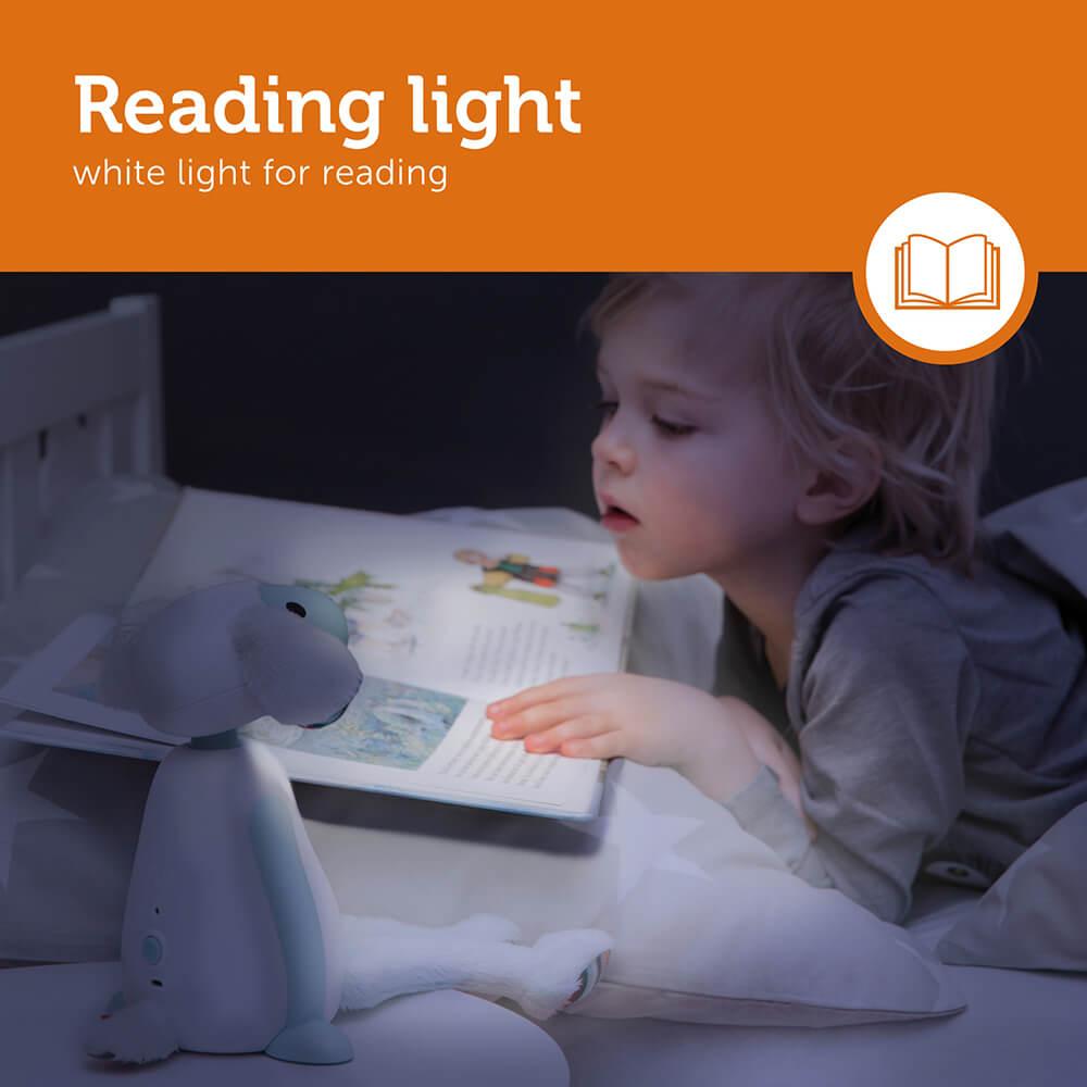 Időzítős olvasó lámpa - Fin - kék