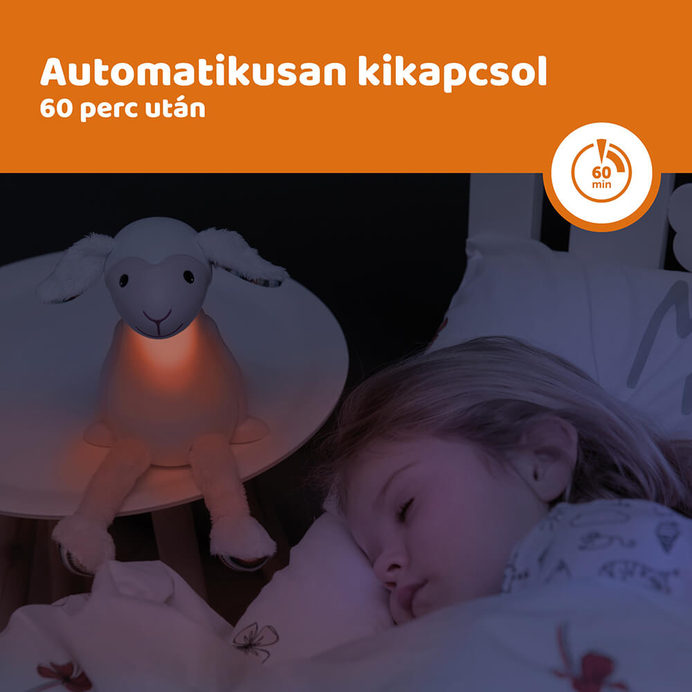 Időzítős olvasó lámpa - Fin - rózsaszín