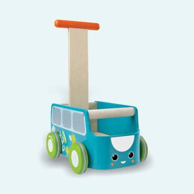 PlanToys Walker tipegő járássegítő autó - kék