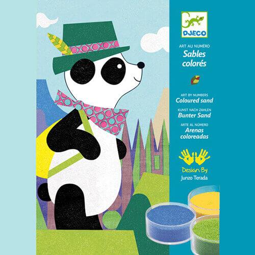Djeco Kreatív - Homokkép készítő - Pandamackó és barátai készlet