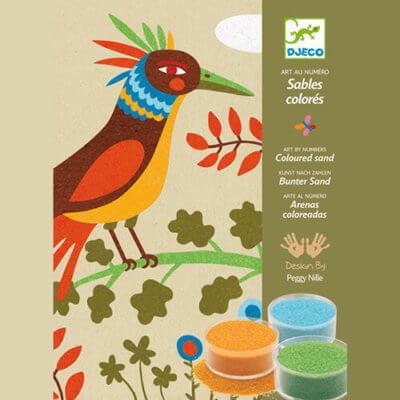 Djeco Kreatív - Homokkép készítő - Édenkert madarai készlet