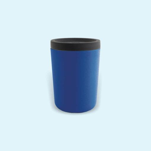 Ekobo hordozható bambusz kávés pohár - királykék