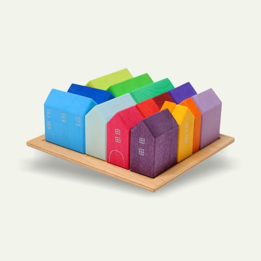 GRIMMS Házak montessori játék